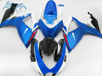 Injection body Fairing kits for Suzuki GSXR 600 2006 2007 K6 GSXR600 750 motorcycle racing fairings kit GSXR750 06 07 blue white