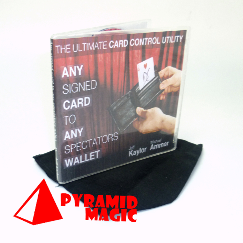 hot new item Any signed Card to Any Spectator's Wallet - black color GIMMICK street close-up card magic trick product image