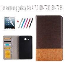 Case para samsung galaxy tab a 7.0 sm-t280 t285 sm-t280 sm-t285 cubierta 7 pulgadas tablet case + protector de pantalla + stylus