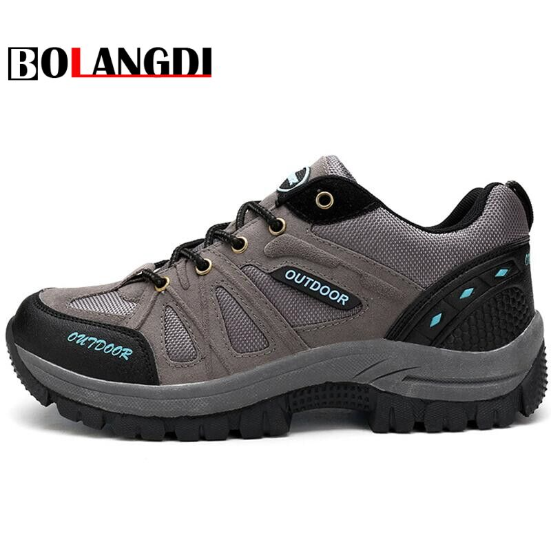 Bolangdi Men Hiking Shoes Sports Sneakers Man Athletic Shoes Waterproof Breathable Climbing Camping Outdoor Shoes big size 39-48 peak sport men outdoor bas basketball shoes medium cut breathable comfortable revolve tech sneakers athletic training boots
