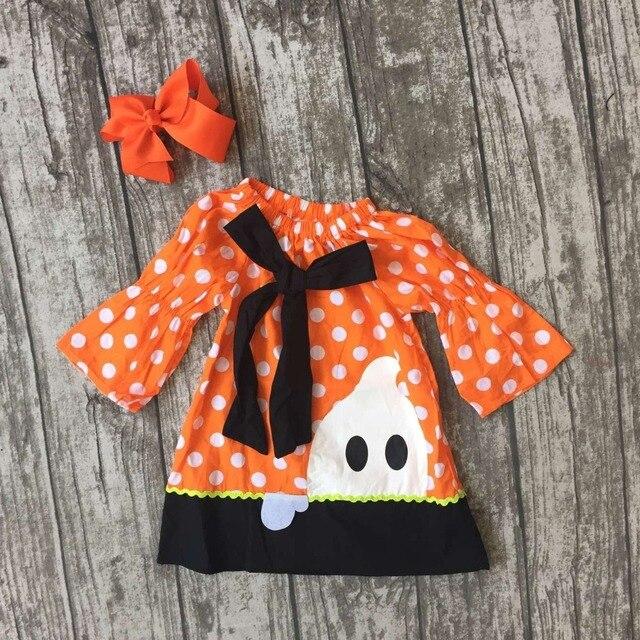 b67e991da baby girls ghost dress girls Halloween woven fabric dress children ...