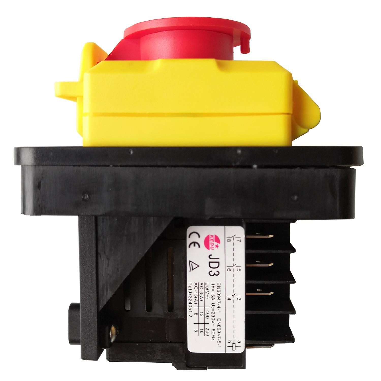KEDU JD3 8 broches 16A 230 V interrupteur à bouton-poussoir électromagnétique étanche interrupteur à bouton-poussoir électrique industriel