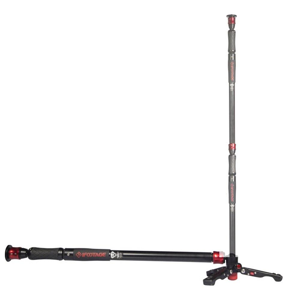 IFootage COBRA 2 Sciopero fotocamera Monopiede 8 kg orso Portatile DSLR Video Monopiede supporto con tavolo gambe del treppiedi/Regolabile fotocamera Pod