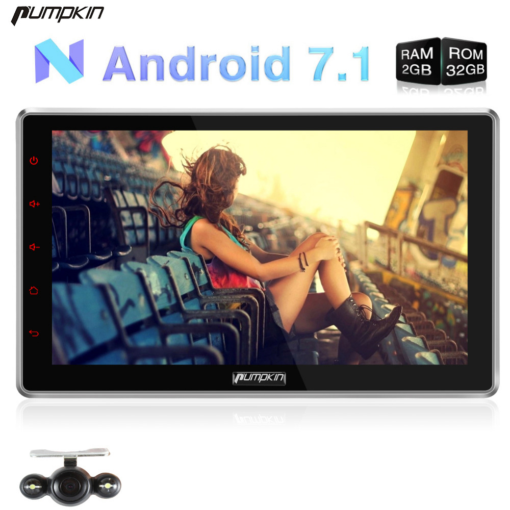 pumpkin 2 din android 7 1 universal car dvd player 10 1. Black Bedroom Furniture Sets. Home Design Ideas