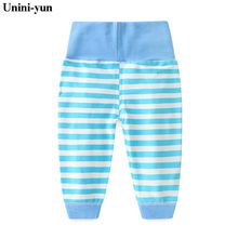New Retail hot sale spring and autumn kids clothing boys girls loose pants cotton striped trousers baby pants New borns pants(China)