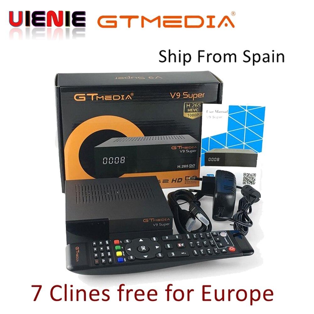 GTMedia V9 Super Satellietontvanger bult WiFi met 1 Jaar Spanje Europa Clines Full HD DVB S2/S freesat V9 Super Receptor-in satelliet TV-ontvanger van Consumentenelektronica op  Groep 1