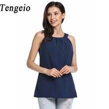 Tengeio vintage red blue shirt women tank top spaghetti strap top sleeveless fitness summer top camisole colete feminino ab25