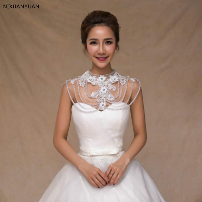 Vintage perles cristal strass Bling Bling mariée enveloppes blanc dentelle mariage châle veste boléro Wrap mariée mariage Wrap