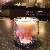Drop Shipping 1Pcs Cat Claw Cup Heat resistant Double Wall Glass Cup Coffee Mug Handmade Creative Milk Mug Tea Whiskey Glass Cup