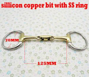 Stainless-Steel Link.horse with Elliptical Bit. BT0314 Eggbutt-Bit Sillicon Eggbutt-Bit