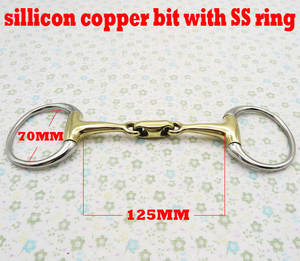 Stainless-Steel Link.horse with Elliptical Bit. BT0314 Eggbutt-Bit Sillicon Eggbutt-Bit