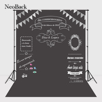 NeoBack Blackboard Wedding Photographic Background Custom Memorial Day Backdrop Chalkboard DIY Birthday Photo Backdrop P2428