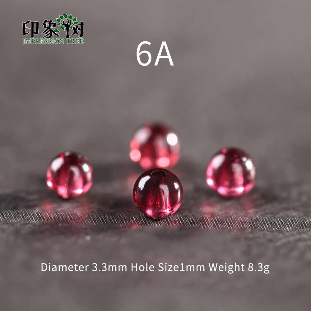 AAAAAA+ 3.3mm  Natural Stone Dark Red Smooth Garnet Round Loose Beads DIY Muilt Row Bracelet Necklace Jewelry Making 22017