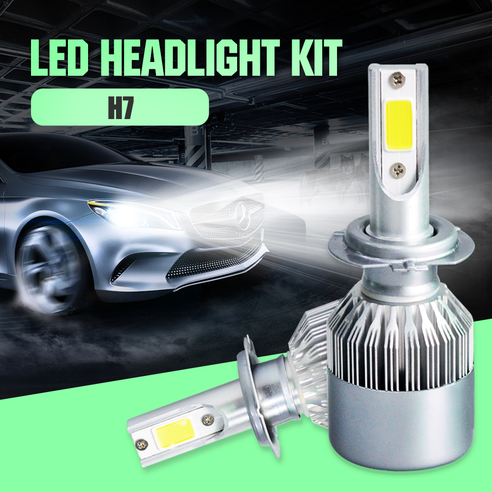 2 шт., Автомобильные светодиодные лампы H4 72 Вт 9005 лм H9 H11 HB3 HB4 9006 6000 3000