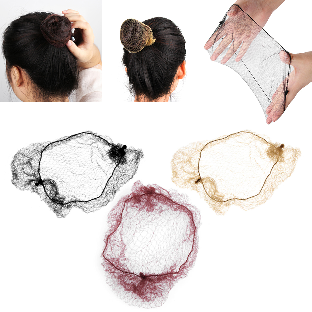 Fine Mesh Ballet Snood Hair Styling Tool Bun Cover Invisible Hair Nets Wig Net