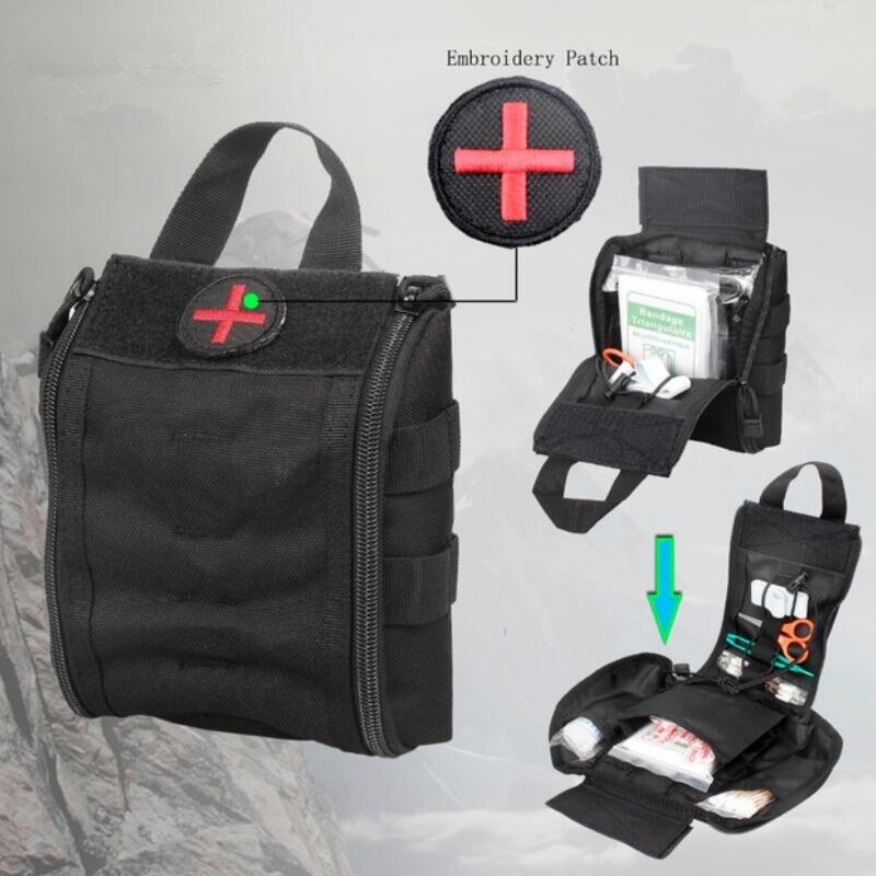 Saco médico náilon tático kits de primeiros socorros utilitário acessório médico saco de caça ao ar livre caminhadas sobrevivência modular saco médico bolsa