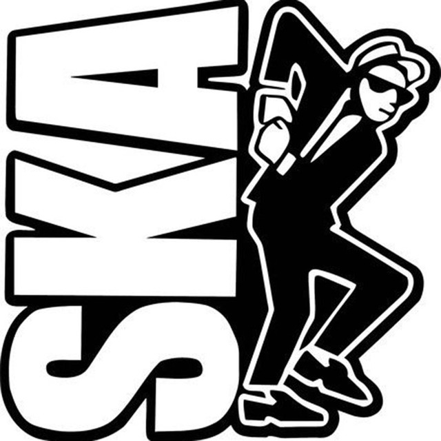 Ska logo i two tones rough boy scooter sticker vinyl car window sticker