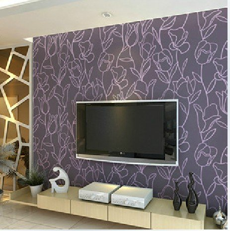 ... Purple Living Room Tv. Wallpaper Bedroom Picture More Detailed About  Flocking Part 48