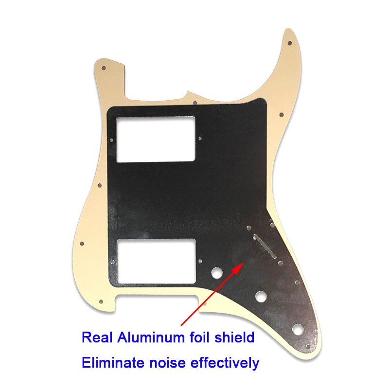 Pleroo Guitar accessories pickguards 11 Holes for left handed USA Mexico Standard ST HH Stratocaster Guitar with PAF Humbucker in Guitar Parts Accessories from Sports Entertainment