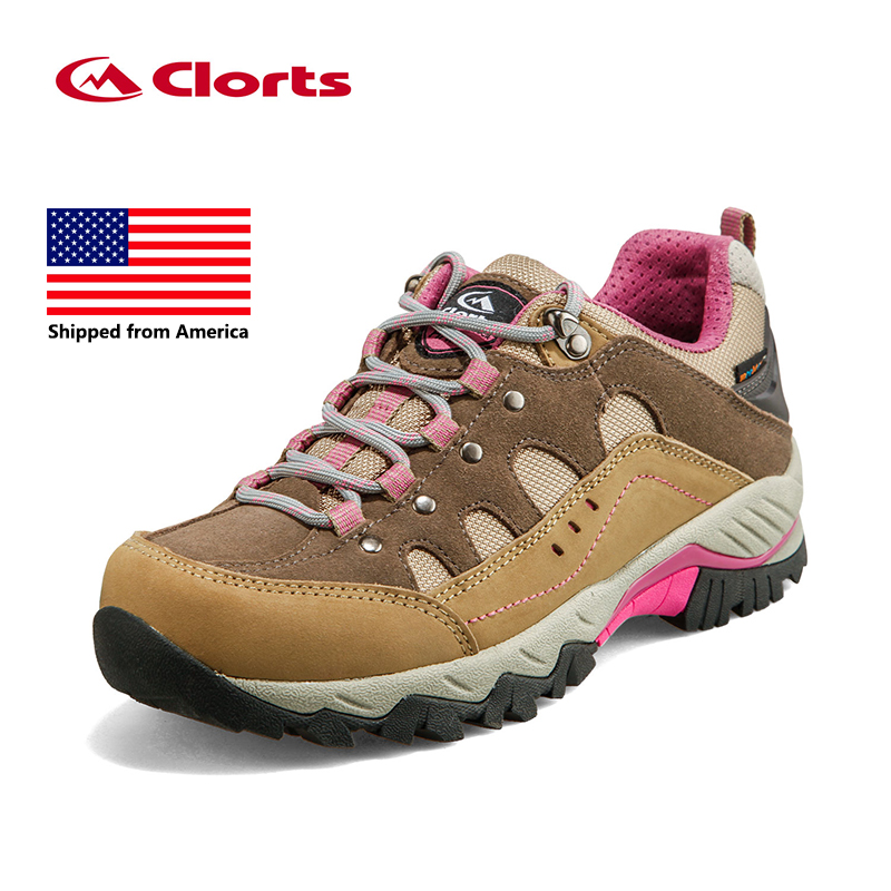 ФОТО Shipped From USA Clorts Women Hiking Shoes Sport Shoes Breathable Hiking Boots Athletic Outdoor Shoes HKL-815C