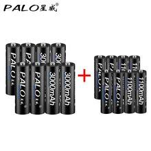Фотография 8Pcs PALO 1.2V 3000mAh AA Rechargeable Battery and 8Pcs 1100mAh AAA Rechargeable Batteries For Toys Car