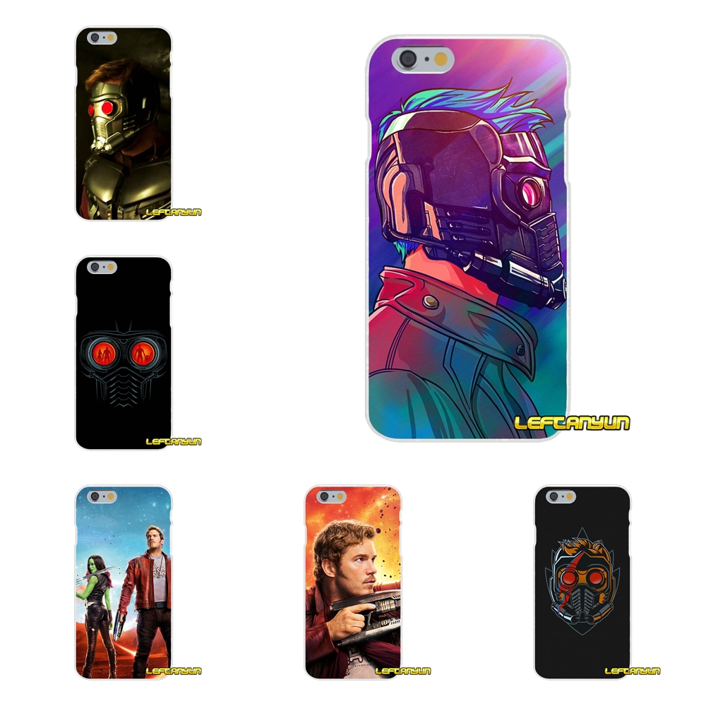 guardians of the galaxy Star Lord Soft Silicone phone Case For iPhone X 4 4S 5 5S 5C SE 6 6S 7 8 Plus