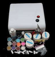 Gel nail set with 36W White UV Lamp Gel Polish Curing Dryer Light Acrylic UV Nail Art Kit Set MS122