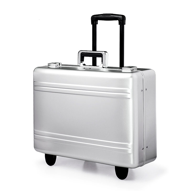 17 inch 100 Aluminium Magnesium Alloy Rolling Luggage Full Metal Travel Suitcase Luxury Brand Business Trolley