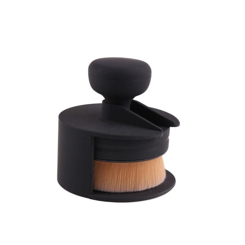 New seal brush professional female facial make-up tool O-type foundation brush basic soft cosmetic make-up brush easy to carry professional bullet style cosmetic make up foundation soft brush golden white