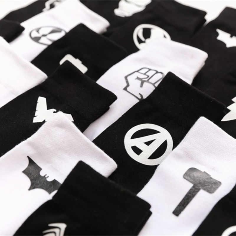 b7c9da53e069 ... Avenger Alliance Sign Pattern Man Business Cotton happy Socks Funny  Solid Color Casual Male Dress Sock ...