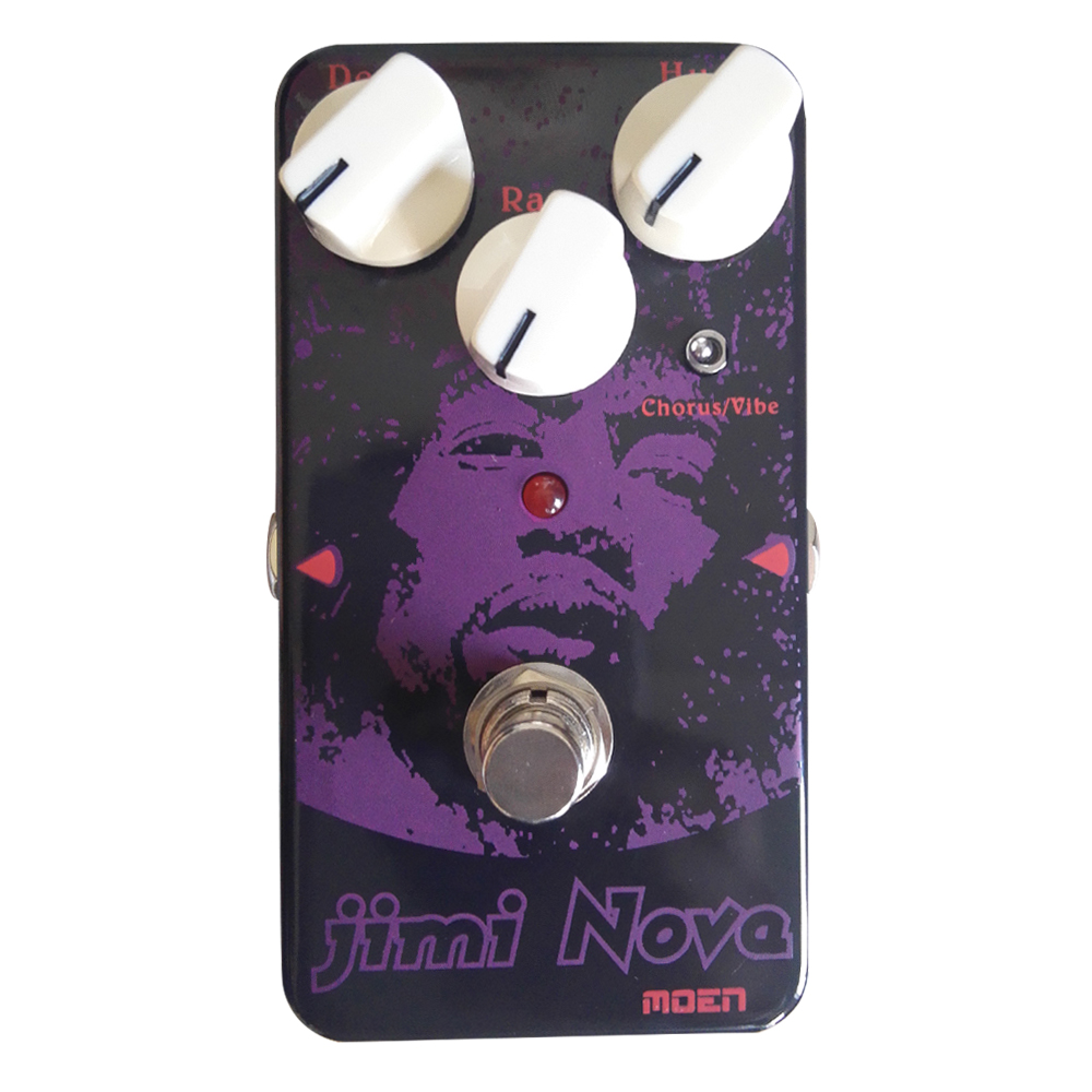 Подробнее о MOEN AM-VB Jimi Nova Vibrato Chorus  Effects for Electric Guitar Vibe / Chorus Guitar Effect True Bypass moen reverb effect pedal hall spring room mode electric guitar effects am rv true bypass