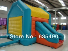 PVC5x3.5×3.5m tarpaulin inflatable bouncers with slide for kids and baby