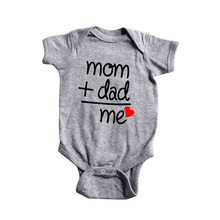 Baby Romper Costume Jumpsuit Outfits Onesie Print Newborn Girl Letter Boy 0-6M Short