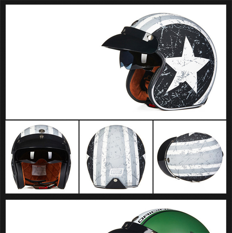 Yyou Breathable Full Face Modular Open Face Motorcycle Helmet Double Flip Up Visors Motorcycle Helmet for Locomotive BMX Racing Cruiser DOT Approved,M