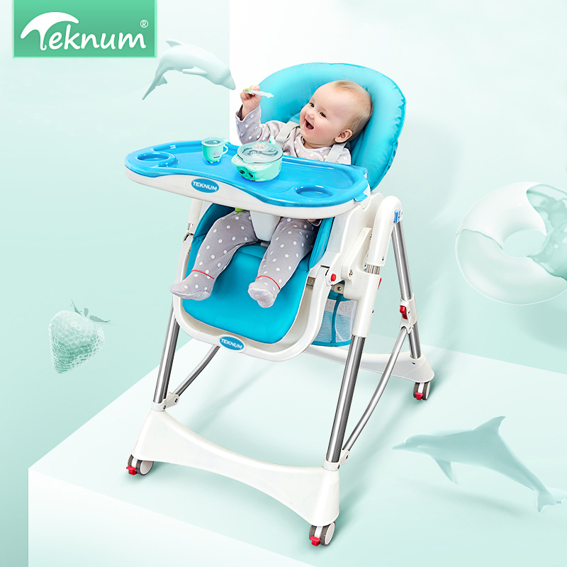 TEKNUM children dining chairs can be folded folding portable European multi-functional infant table dining baby sitting chair free shipping children eat chair the portable folding multi function plastic baby chairs and tables for dinner