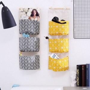 Image 1 - Foldable Hanging Pocket Organizer Storage Bag Foldable Hang Wall Dormitory Hanging Storage Organizador 2019 Hot Sale