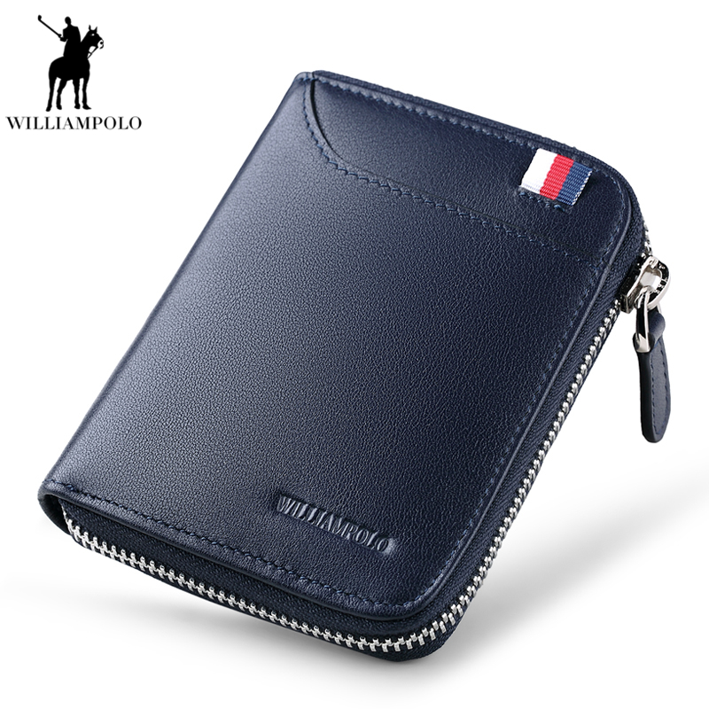 Famous Luxury Brand Genuine Leather Men Wallets Coin Pocket Zipper Men's Leather Wallet with Coin Purse portfolio cartera PL190 gzcz famous luxury brand genuine leather men wallets with card holder casual men s leather walet case purse portfolio cartera