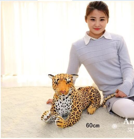 middle lovely simulation leopard toy plush lifelike leopard doll gift about 60cm business intelligence and the cloud