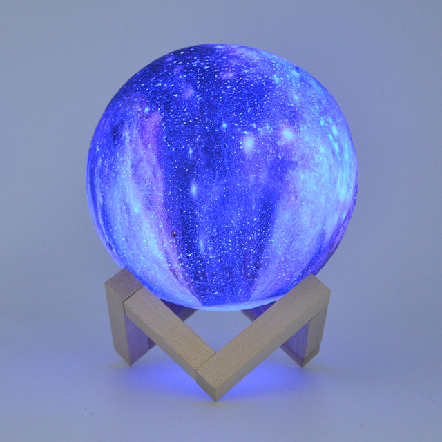 Dropship 15CM Moon Lamp 3D Print Star Galaxy Light Colorful Change Touch USB Charging Led Home Decoration Baby Night Lights Gift 2