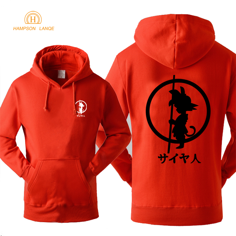 Hoody Men Sweatshirt 2019 Spring Autumn Fleece Sweatshirts Hoodie Fashion Dragon Ball Anime Print Sportswear Harajuku Hoodies