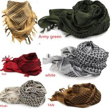 軍事 shemagh スカーフ戦術砂漠のアラブ keffiyeh スカーフアラビア綿 100% 厚手のスカーフ