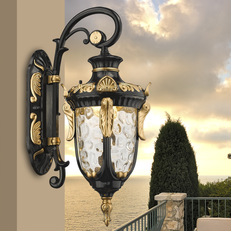 Outdoor wall lamp European style outdoor waterproof led retro garden corridor corridor balcony outer wall lamp ya71 ZL523 european style outdoor wall lamp american style villa retro garden garden corridor led exterior light waterproof outdoor lu62710