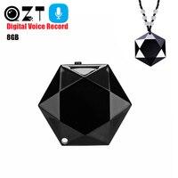 8GB Professional Audio Voice Recorder Mini Necklace Stealth Pendant Digital HD Dictaphone Sound Recording Pen grabadora de voz