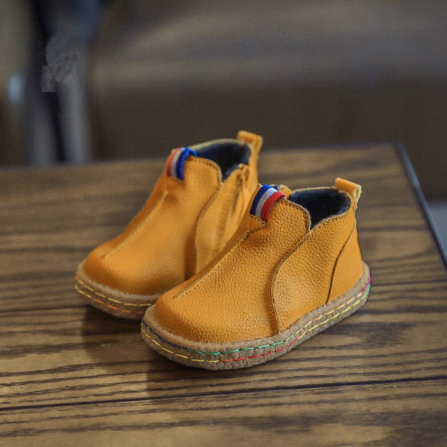 2016 New Winter Toddler Boots Leather Baby's Shoes Snow Boots Girls Ankle Martin Boots Bow Children's Shoes Warm Girls Boys