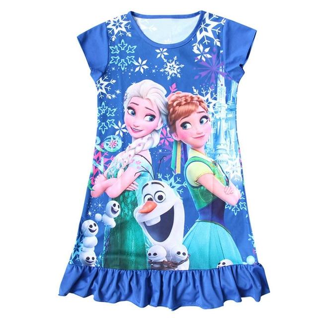 efcf4b591 Frozen Dress for Girls Night Gown Pajamas Baby Girls Dress Toddler ...