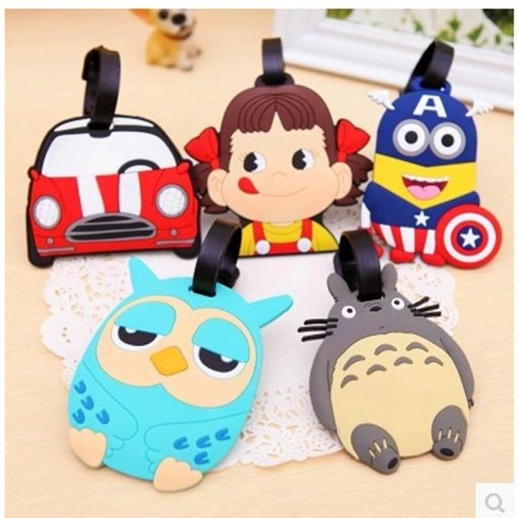 8*10cm Cute Luggage Tags cartoon Travel Luggage Tag Name Tag kids ...