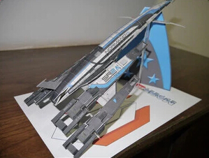 Mass Effect SR2  Airship Helicopter 3D Paper Model
