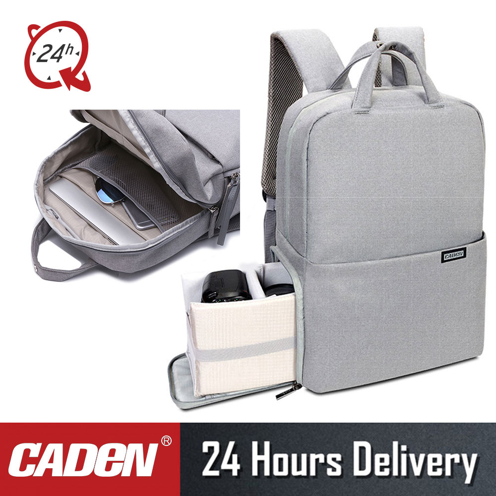 Breathable Light Grey Camera Shoulder Bag Waterproof DSLR Camera Shoulder L Bag Portable Case Anti-wear Anti-Tear and Durable for Canon Nikon Sony