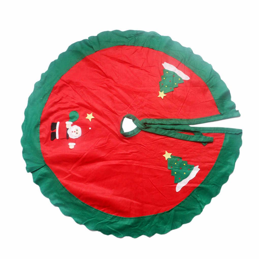 Стильная Рождественская елка юбка круг Санта-Клаус шаблон ation фартук обертывание Рождество Новое поступление Новые