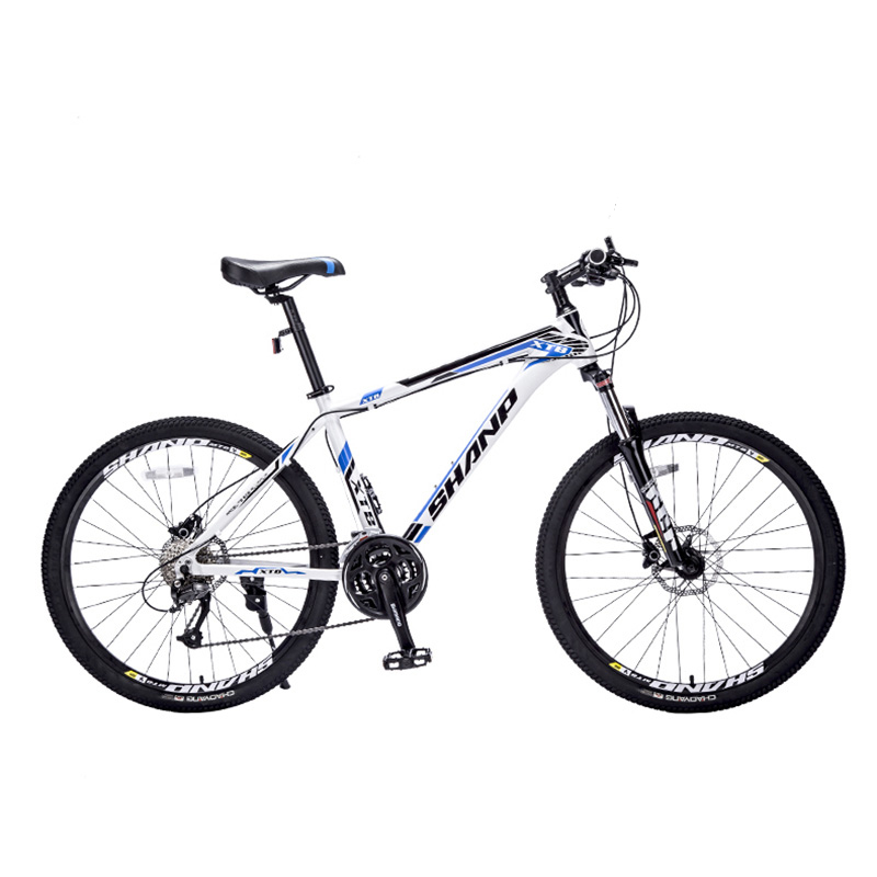 SHANP Mountain bike aluminum wax 27 speed Microshift 26 wheels hydraulic / mechanical brakes 2018 anima 27 5 carbon mountain bike with slx aluminium wheels 33 speed hydraulic disc brake 650b mtb bicycle
